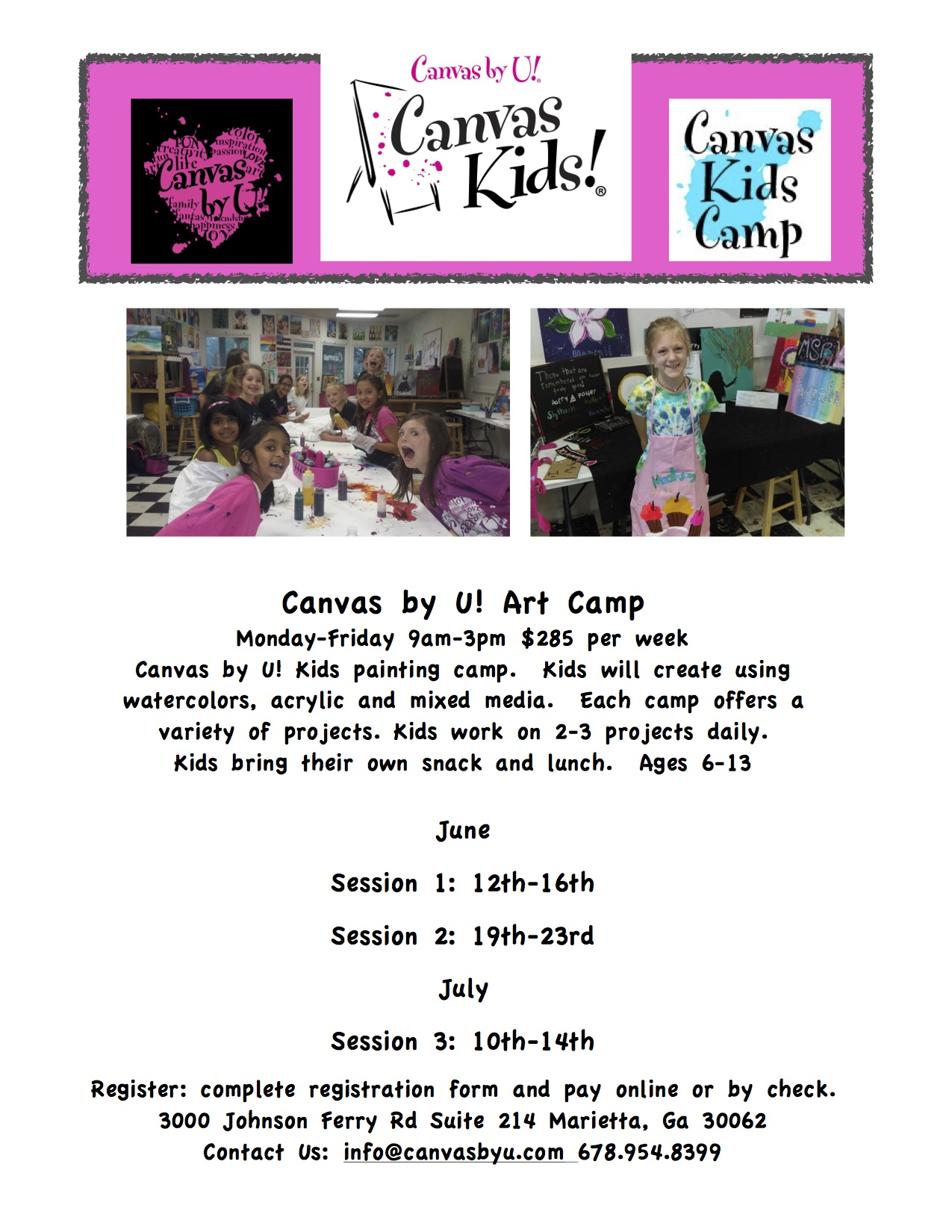 canvas by u kids camps